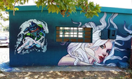 To γκράφιτι που κεντρίζει το ενδιαφέρον στα Δεμένικα της Πάτρας (φωτο)
