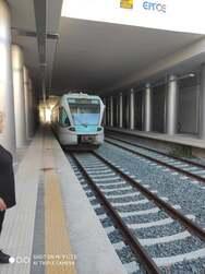 Ιστορική στιγμή - Το τρένο έφτασε στην Αιγιάλεια - Οι πρώτες εικόνες