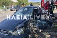 Ηλεία: Μετωπική σύγκρουση αυτοκινήτων στον Πύργο (φωτο)