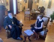 Η Χριστίνα Αλεξοπούλου συναντήθηκε με τον Μητροπολίτη Ιερώνυμο