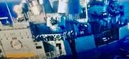 Η ζημιά στο «Κεμάλ Ρέις» μετά τη σύγκρουση με τη φρεγάτα «Λήμνος»