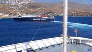 Σέριφος - Πλοία κάνουν 'κόντρα' για το ποιο θα δέσει πρώτο στο λιμάνι (video)