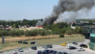 Θεσσαλονίκη: Φωτιά στην Αμερικανική Γεωργική Σχολή (video)