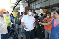 Παρών ο Κώστας Πελετίδης στην παράσταση διαμαρτυρίας των εργαζομένων της Κοινωφελούς Εργασίας