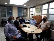 Συνάντηση Πελετίδη με εκπροσώπους της Ο.Σ.Ε.Κ.Α και της ομάδας του Ήφαιστου Πατρών