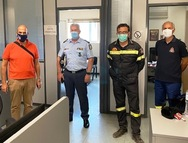 Επίσκεψη Χ. Μπονάνου στο Κέντρο Επιχειρήσεων της Πυροσβεστικής (φωτο)