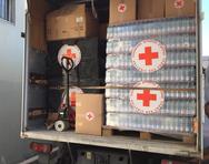 Παραδόθηκε το πρώτο φορτίο ανθρωπιστικής βοήθειας του Ελληνικού Ερυθρού Σταυρού στη Μυτιλήνη