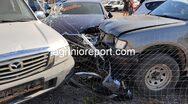 Αγρίνιο: Αγροτικό 'πέταξε' μετά από τροχαίο και προσγειώθηκε σε μάντρα αυτοκινήτων (φωτο)