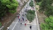 Μέσα σε κλίμα ελπίδας, πραγματοποιήθηκε ο συμβολικός Δρόμος Εκεχειρίας Πνύκα - Καλλιμάρμαρο (φωτο)