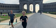 H Ούρσουλα Φον Ντερ Λάιεν κάνει τζόκινγκ στις Βρυξέλλες