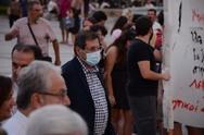 Ο Κώστας Πελετίδης στην κινητοποίηση των εκπαιδευτικών της Πάτρας (φωτο)