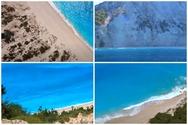 Η παραλία Εγκρεμνοί της Λευκάδας από ψηλά - Μαγικά πλάνα (video)