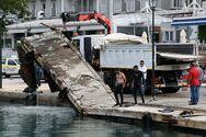 Μαρίνα Πατρών - Ξεκίνησε η αποξήλωση της πλωτής προβλήτας (φωτο)