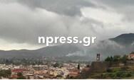 Τυλίχθηκε στις φλόγες σπίτι στην Ναύπακτο από κεραυνό (pics+video)