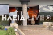 Πύργος: Ολική καταστροφή για το κατάστημα της εταιρείας «Σηπέτα» (pics+video)