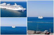 Το τεράστιο πλωτό νησί μιας πριγκίπισσας που 'άραξε' έξω από το παλαιό λιμάνι της Πάτρας (video)