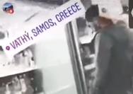 Σάμος: Μετανάστες έγλειφαν τρόφιμα σε σούπερ μάρκετ (video)