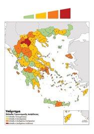 Ο νέος χάρτης με τα επιδημιολογικά φορτία στην Ελλάδα - Στο 'πορτοκαλί' η Αχαΐα