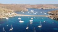 Η εντυπωσιακή δίδυμη παραλία της Κύθνου (video)