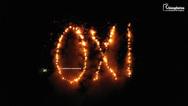 28η Οκτωβρίου: Στα Καρδάμυλα της Χίου σχηματίζουν με φωτιές το «Όχι» (video)