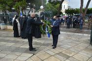 Αίγιο - Ο Δ. Καλογερόπουλος κατέθεσε στεφάνι στο Δημοτικό Κήπο Υψηλών Αλωνίων