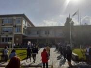 Φοιτητές διαμαρτυρήθηκαν για τον ερχομό του Αμερικανού πρέσβη στην Πάτρα