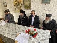 Αχαΐα: Ο Νεκτάριος Φαρμάκης επισκέφθηκε την Ιερά Μονή Νοτενών