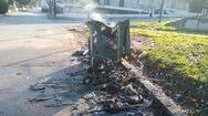 Μπαράζ εμπρησμών σε κάδους απορριμμάτων και ανακύκλωσης στη Ναύπακτο (video)