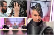Ο Λάκης Γαβαλάς φόρεσε headpiece δημιουργία του Πατρινού Πάρη Λαλιώτη (φωτο)