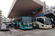 Πάτρα: Άδεια από κόσμο τα λεωφορεία, γεμάτα από δέματα και πεσκέσια