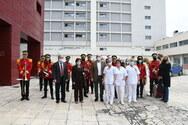 Η μπάντα του Δήμου 'μετέφερε' το μήνυμα των Χριστουγέννων στα νοσοκομεία της Πάτρας (φωτο)