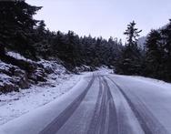 Το βουνό του Χελμού «ντύθηκε» στα λευκά του (φωτο)