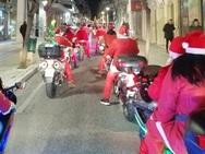 Οι Αϊ Βασίληδες κατέβηκαν στους δρόμους της Πάτρας και μοίρασαν δώρα με τις μηχανές τους (video)