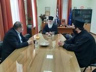 Αχαΐα: Επίσκεψη Μητροπολίτη Ιερωνύμου στον Δήμαρχο Αιγιαλείας