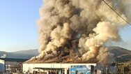 Τρίκαλα: Ολική καταστροφή στο εργοστάσιο «Υφαντής»