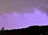 Πάτρα: Ο κεραυνός που έκανε την εμφάνιση του στην καταιγίδα