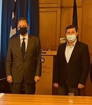 Εκπρόσωποι του Δήμου Δυτικής Αχαΐας επισκέφθηκαν τον υπουργό Αγροτικής Ανάπτυξης
