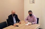 Συνάντηση Αλεξόπουλου - Παπαδόπουλου στα γραφεία του ΣΥ.ΔΙ.Σ.Α. Αχαΐας