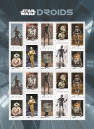 Star Wars γραμματόσημα με τα αγαπημένα μας droids