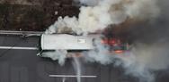 Τρόμος για επιβάτες σε ΚΤΕΛ στην Αθηνών-Λαμίας (video)