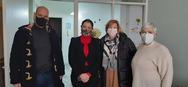 Πάτρα: Ο Χαράλαμπος Μπονάνος επισκέφθηκε το γραφείο της 'Φλόγας'