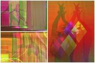 Video art προβολή μοντέρνου μετασχηματισμού του θεάτρου σκιών, της φωτιάς και του Πατρινού Καρναβαλιού