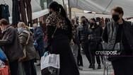 Ηράκλειο: Συνωστισμός σε λαϊκή αγορά, παρά το «βαθύ κόκκινο»