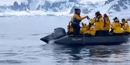 Πιγκουίνος ξεφεύγει από όρκες πηδώντας σε φουσκωτό σκάφος (video)
