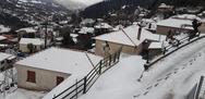 O ανοιξιάτικος χιονιάς στην Άνω Βλασία Καλαβρύτων (φωτο)