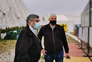 Ξενάγηση του υποψήφιου Προέδρου Τάσου Χρυσανθόπουλου στο Ολυμπιακό Προπονητήριο Τοξοβολίας