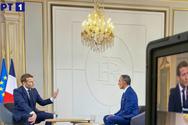 Μακρόν στην ΕΡΤ: 'Θα κάνουμε τα πάντα για να στηρίξουμε την Ελλάδα'