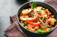 Συνταγή για noodles με γαρίδες