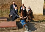 Ο Νεκτάριος Φαρμάκης στην πρώτη υδροδότηση οικισμών της Δυτικής Αχαΐας από το Φράγμα Πείρου - Παραπείρου