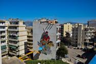 Πάτρα: Σε εξέλιξη η δημιουργία της πρώτης τοιχογραφίας του ArtWalk 6 - Πρωταγωνιστεί σπουδαίος ήρωας του 21 (φωτο)